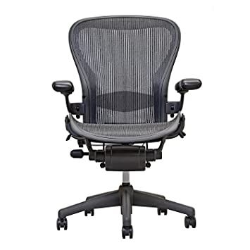 Good Amazon.com: Herman Miller Aeron Executive Office Chair Size B Fully  Adjustable Arms Lumbar Support Open Box: Home U0026 Kitchen
