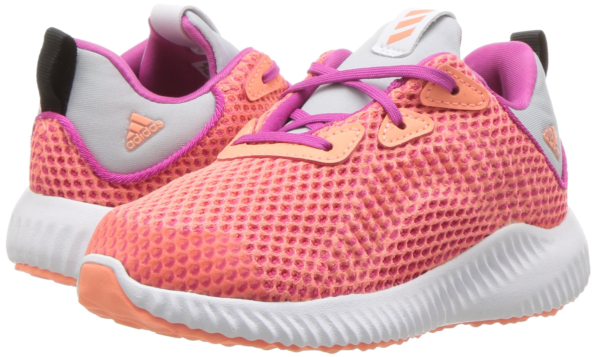 adidas Kids' Alphabounce Running Shoe, Bahia Magenta/Sun Glow/Clear Grey, 4 Medium US Toddler by adidas (Image #6)