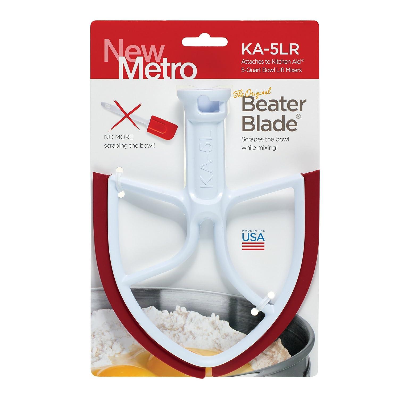 New Metro Design KA-5LR Beater Blade for KitchenAid 5-Quart Bowl Lift (Red)