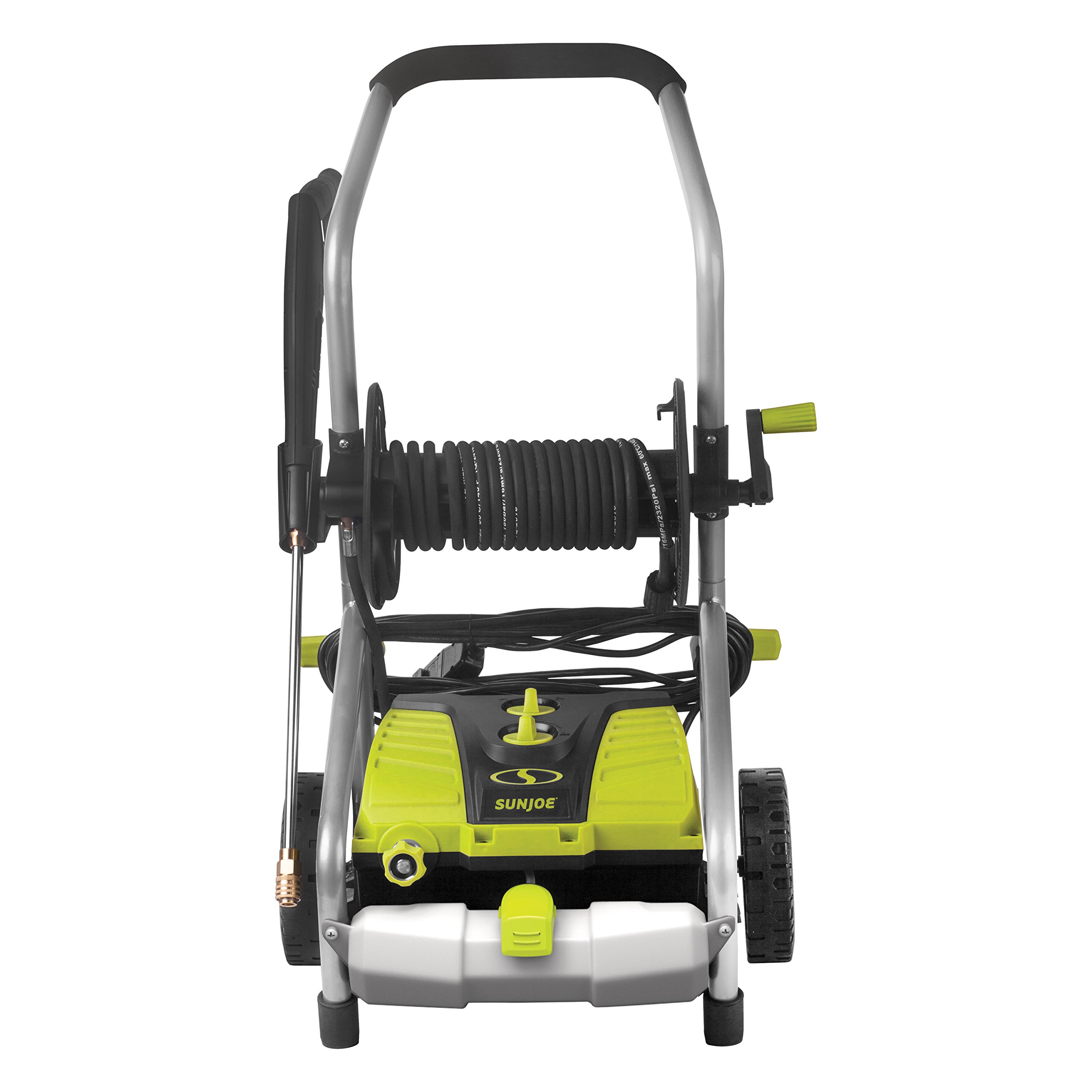 Sun Joe SPX4001 2030 PSI 1.76 GPM 14.5 Amp Electric Pressure Washer w/ Pressure Select Technology & Hose Reel by Snow Joe