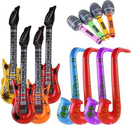 Amazon.com: NUOLUX 12pccs Juguete Inflable Guitarra ...