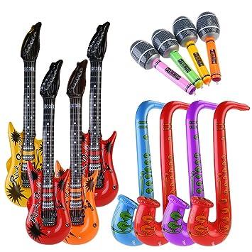 NUOLUX 12pccs inflables de juguete inflable guitarra saxofón ...