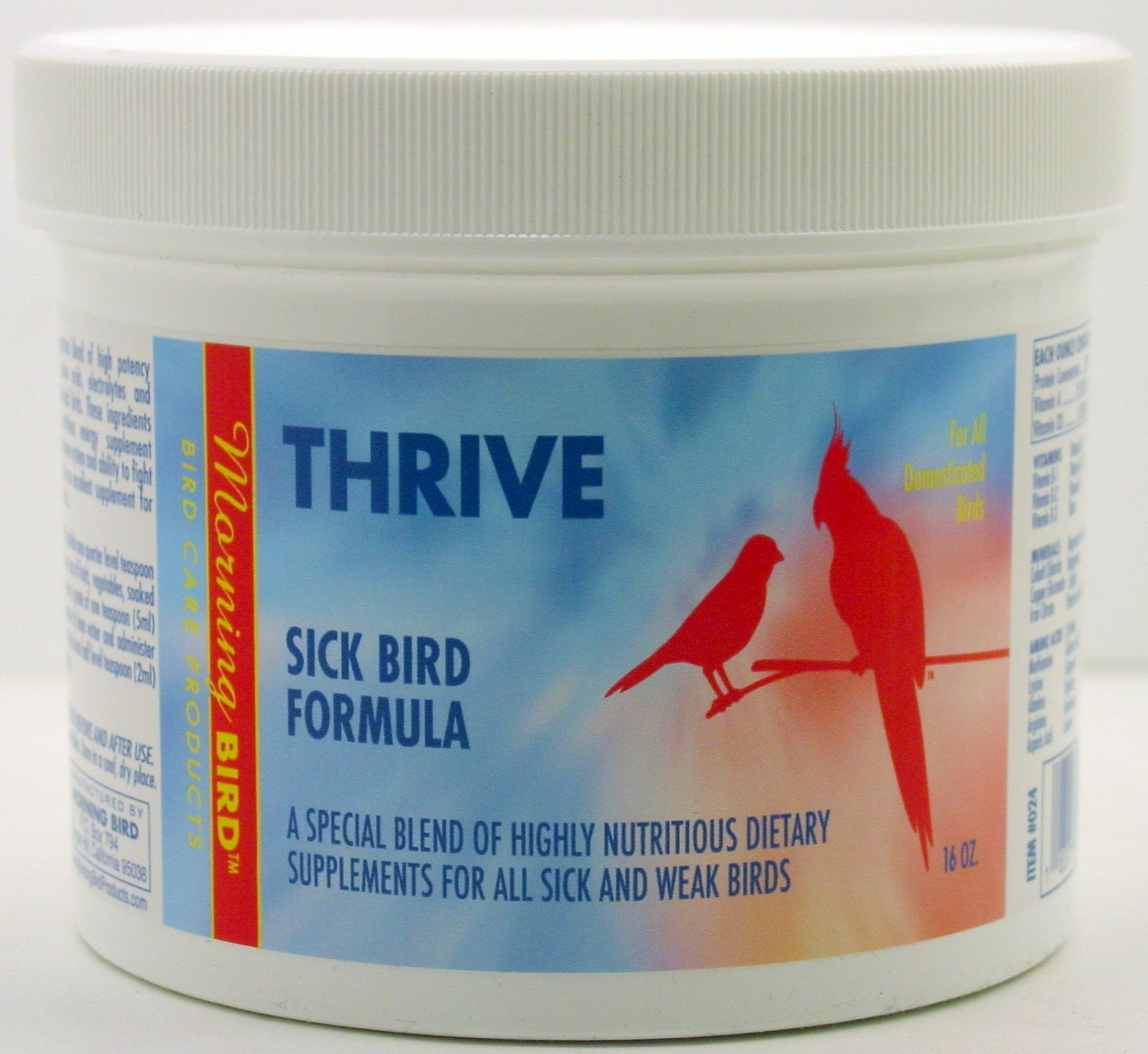 Morning Bird Thrive, Sick Bird Formula (16 oz) by Morning Bird