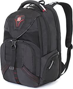 Swiss Gear SA5892 Black TSA Friendly ScanSmart Laptop Backpack - Fits Most 15 Inch Laptops and Tablets