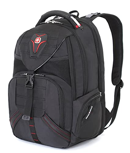Amazon.com: Swiss Gear SA5892 Black TSA Friendly ScanSmart Laptop Backpack - Fits Most 15 Inch Laptops and Tablets: Computers & Accessories