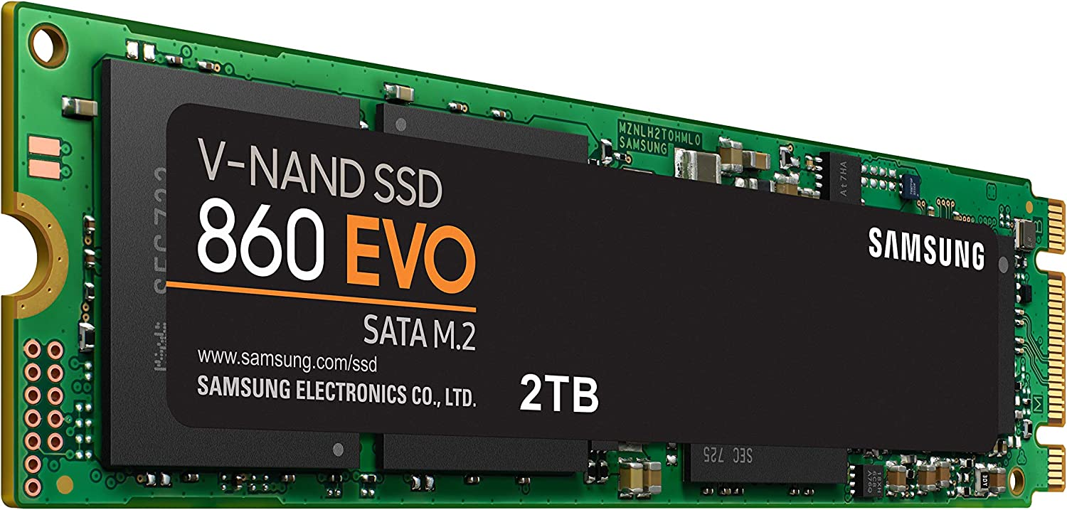 Samsung 860 EVO SSD 2TB - M.2 SATA Internal Solid State Drive with V-NAND Technology (MZ-N6E2T0BW)