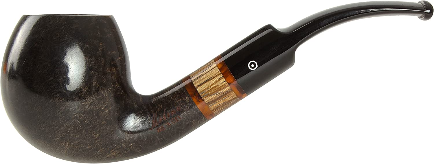 Molina Zebrano Grey 107 Tobacco Pipe - Bent Apple