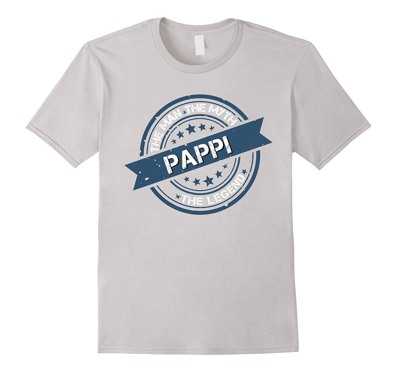 Pappi The Man Myth Legend Vintage Seal Distressed Shirt-AZP