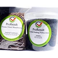 PROREZULT Tropical Fish Pellets And Freeze Dried Bloodworm Cichlid Catfish Pleco