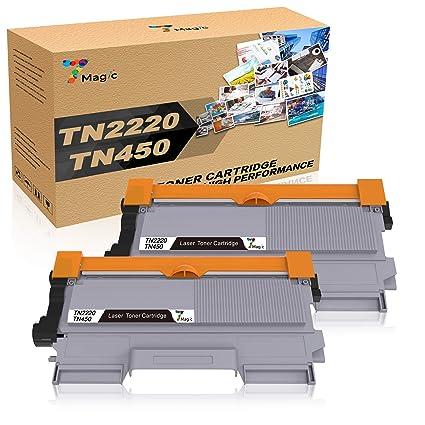 TN2220 Toner, 7Magic TN2220 Compatible con Brother TN2220 TN2210 Cartucho de Tóner,Compatible con Brother MFC-7360N MFC-7360 DCP-7055 DCP-7055W ...