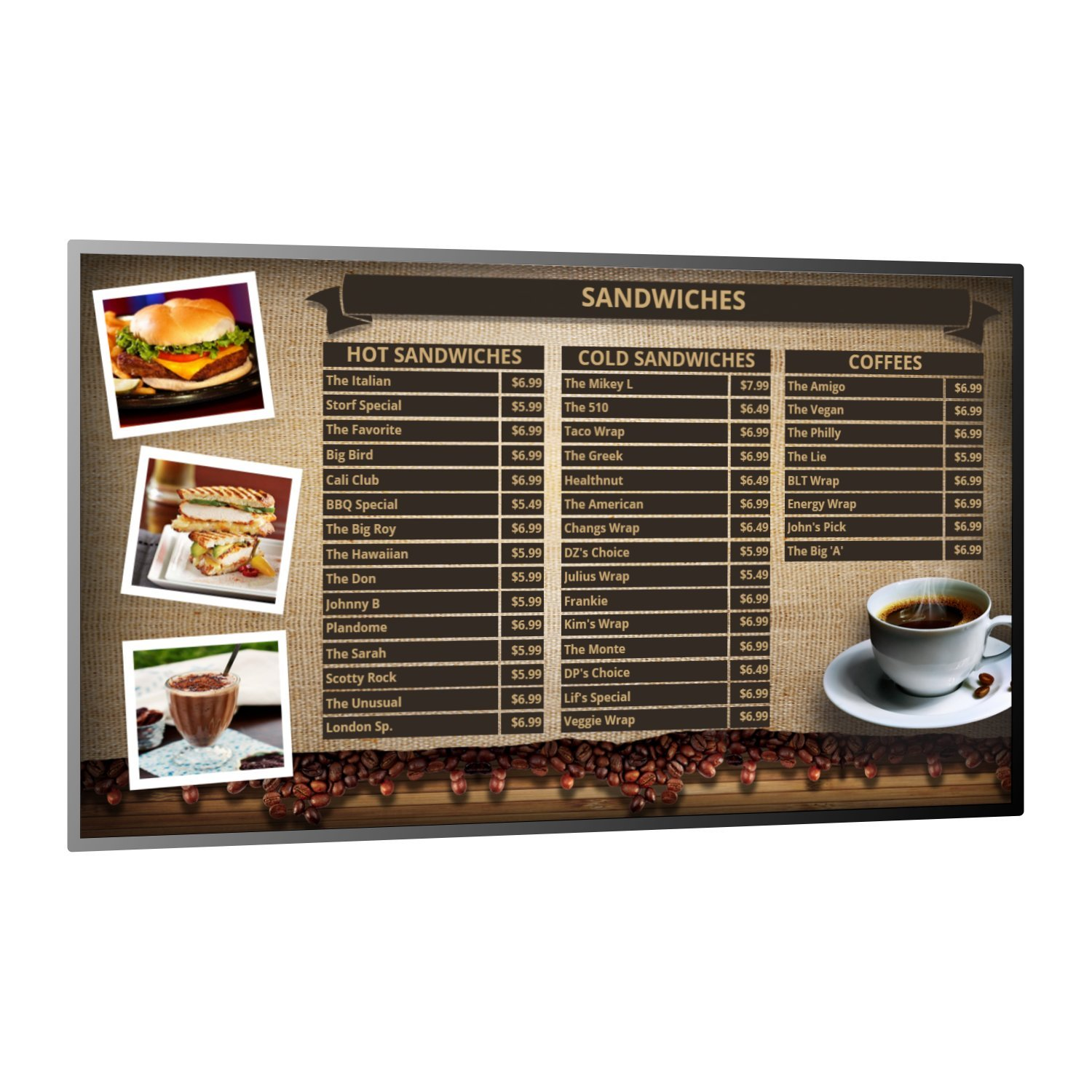 doPublicity Digital Signage Player, Software with over 1,000 Templates for displaying Restaurant Menu Boards, Advertising, Corporate Messaging, Product Promotion and Live Weather on HD and 4K TV by doPublicity (Image #3)