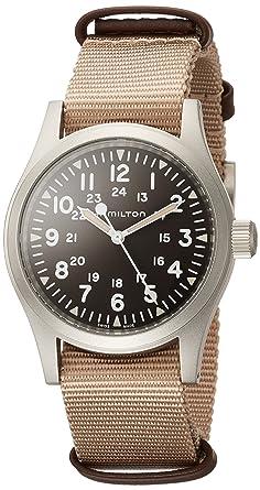 Reloj de pulsera HAMILTON para caballero en tejido marrón H69429901: Amazon.es: Relojes