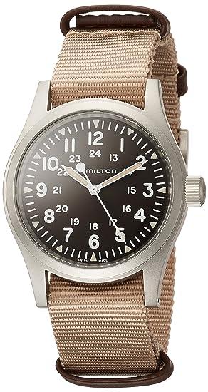 Hamilton Khaki Field Brown Dial Nylon Strap Men S Watch H69429901