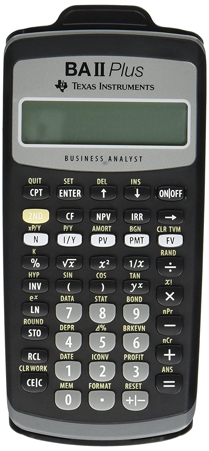 Texas Instruments BAIIPlus Financial Calculator CALCULATOR, BUS ANLY, 10DIG UD1013 (Pack of 2) BA-II-PLUS
