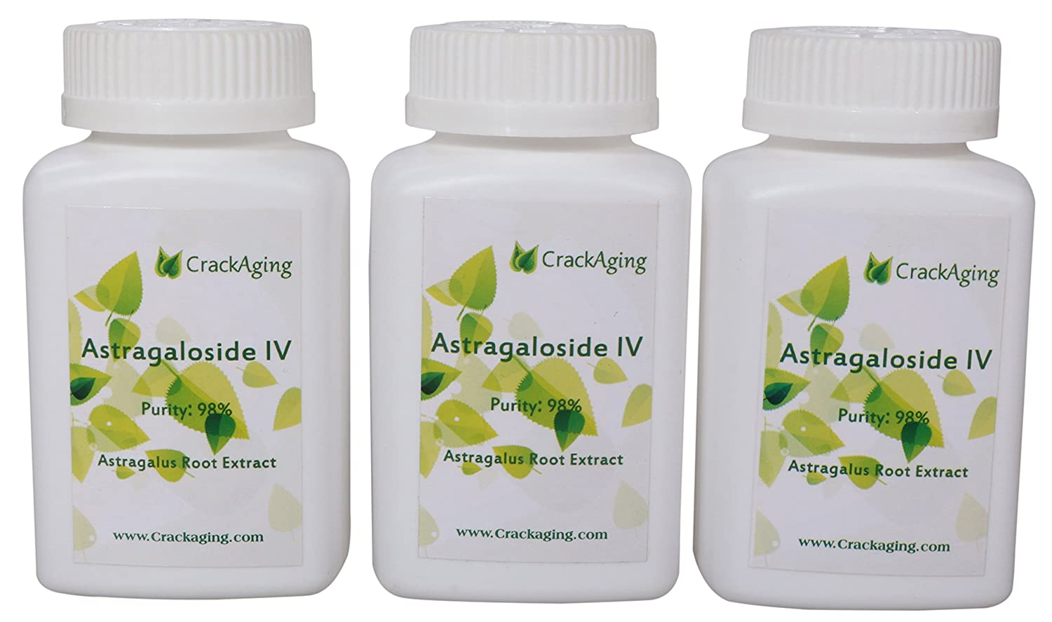 Super-Absorption Astragaloside IV 98 – Anti-Aging Supplement Brand crackaging 50mg Cap 90 Caps in 3 Bottles