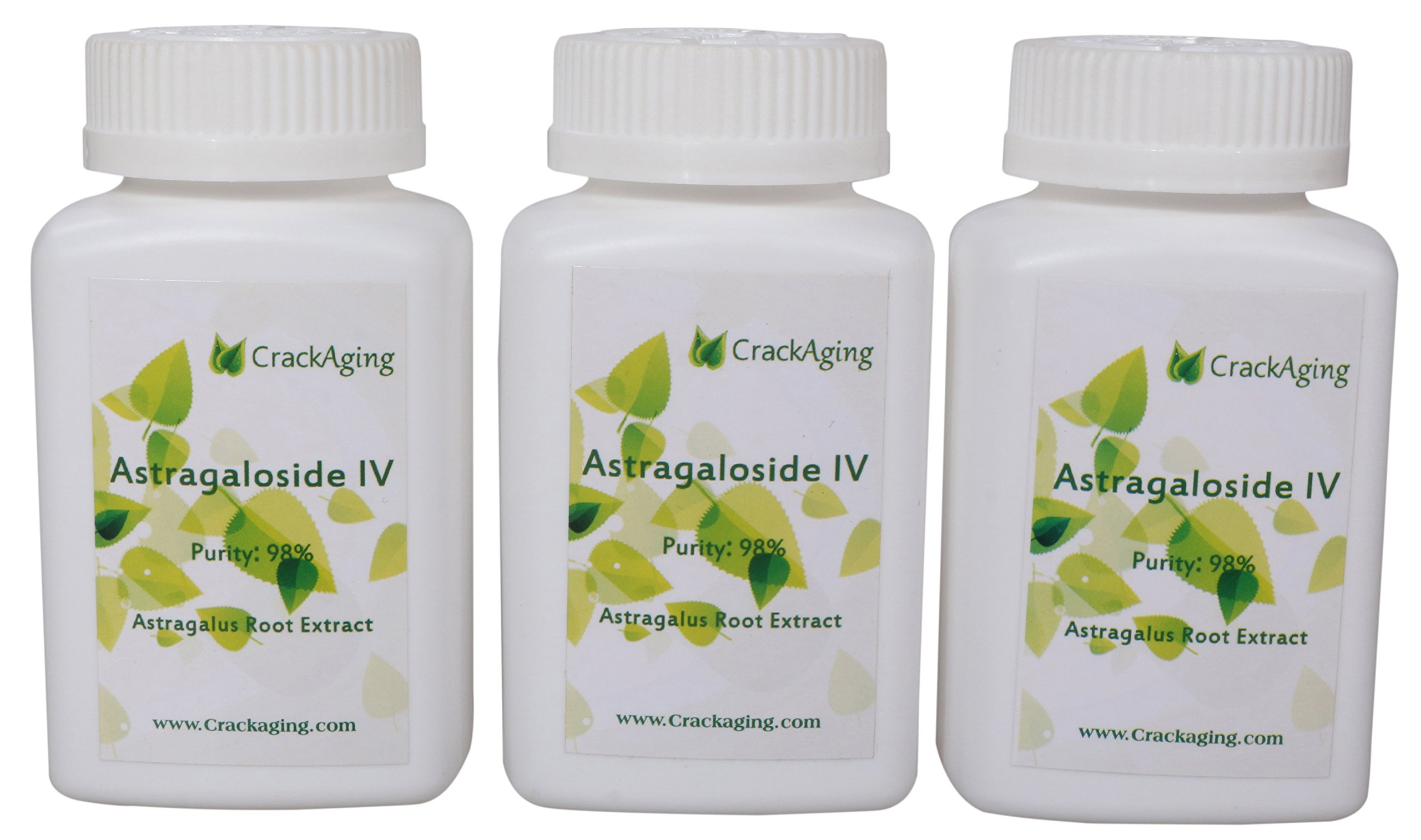 Super-Absorption Astragaloside IV 98% - Anti-Aging Supplement (Brand:crackaging) (50mg/Cap 90 Caps in 3 Bottles)