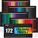 172 Colored Pencils, Shuttle Art Soft Core Color Pencil Set for Adult Coloring Books Artist Drawing Sketching Crafting