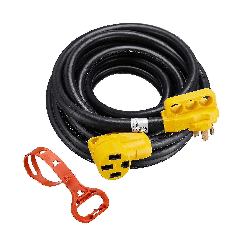Miady 50amp Rv Replacement Male Plug With Easy Unplug Heavyduty 3wire Electrical Amazoncom Design Automotive
