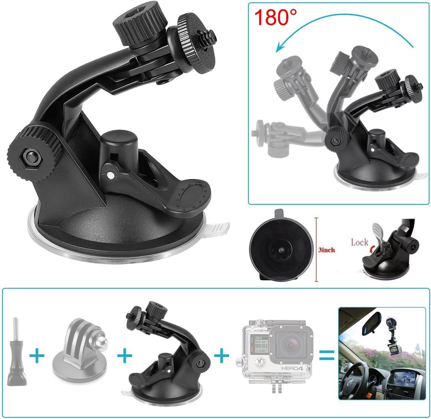 Universal para coche ventosa soporte giratorio soporte para Rollei Actioncam 410