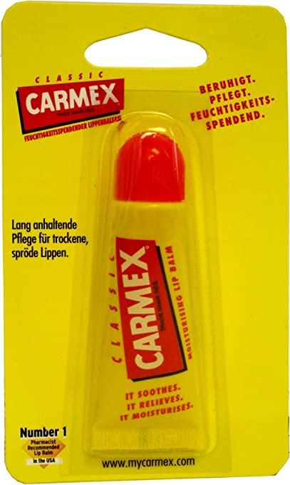 Carmex Lip Balm Classic Tube, 12-pack (12 x 10 g): Amazon.es: Belleza