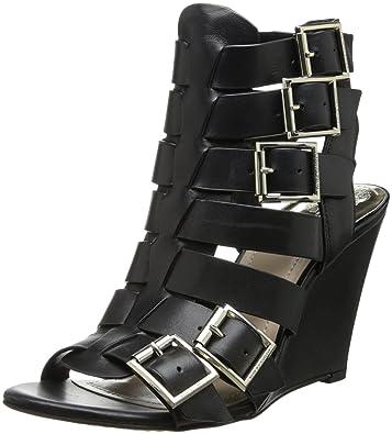 Amazon.com   Vince Camuto Women\'s Martez Wedge Sandal, Black, 6.5 ...