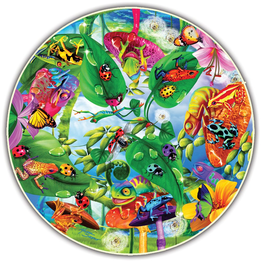 Round Table Puzzle 500 Piece Creepy Critters A Broader View Inc 372
