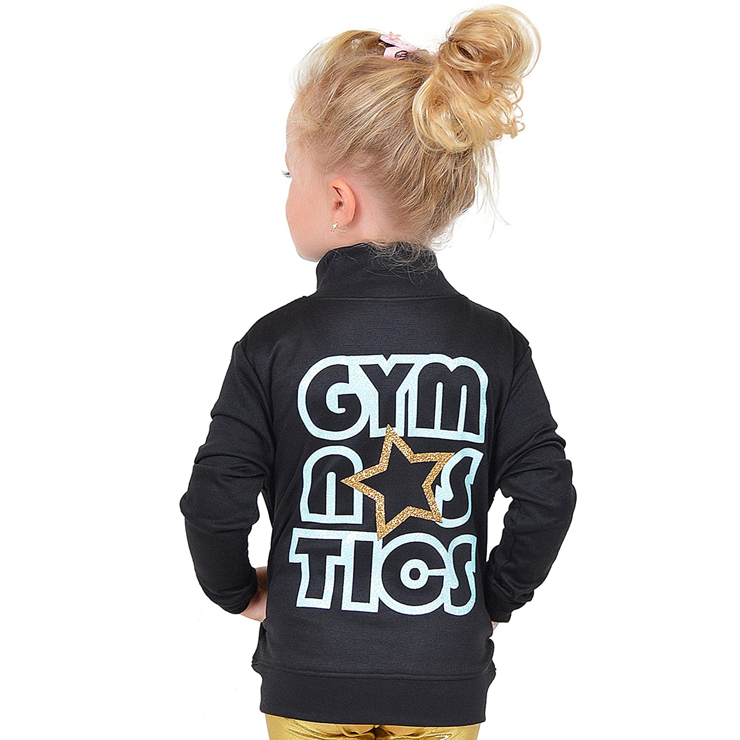 Stretch Is Comfort Girl's Glitter Gymnastics Jacket J3032GMNSTCS-$P