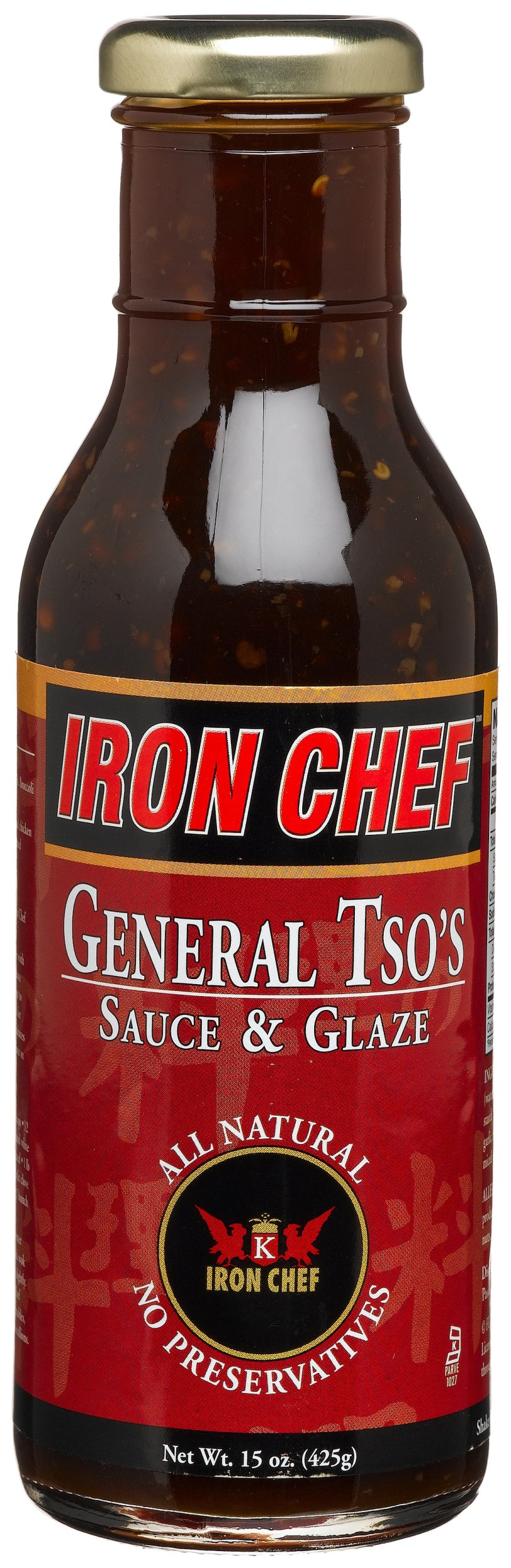 IRON CHEF General Tso's Sauce & Glaze, All Natural, Kosher, 15-Ounce Glass Bottles (Pack of 3)