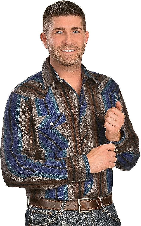 Wrangler Mens Big Western Flannel Shirt Lightweight
