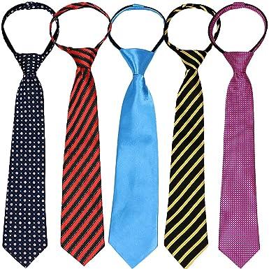 bdcdf45f3562 kilofly Pre-tied Adjustable Zipper Tie Kids Boys Baby Necktie Value ...