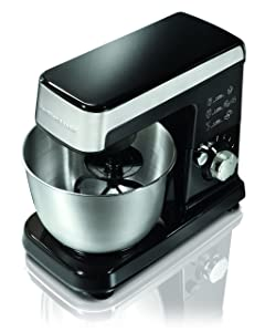 6 Speed Stand Mixer Finish: Black/Silver