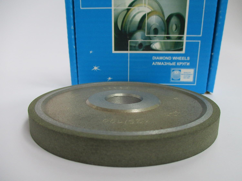 Dia: 4' (100mm.) Hole: 0.8' (20mm.) Width: 0.4' (10mm.) Type: 1A1 Straight Abrasive Diamond Wheel Grinding 125/100micron 150 Mesh (Finish Grit) Poltava Diamond Tools