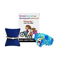chandrika Pearls gems & jewellers rakshabandhan Special led Rakhi & Greeting Card for Boys & Kids : doremon LED Light Rakhi