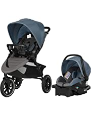Evenflo Folio3 Stroll and Jog Travel System with LiteMax 35 Infant Car Seat (Skyline)