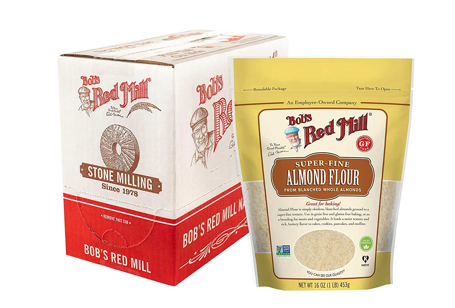 Bob's Red Mill Almond Flour, 16-ounce (Pack of 4)