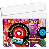 70s 80s theme party invitations personalised invites with envelopes