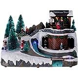 bb76ffd3509 Holyart Escena de Navidad con Luces y Tren en Movimiento 30x30x25 cm ...