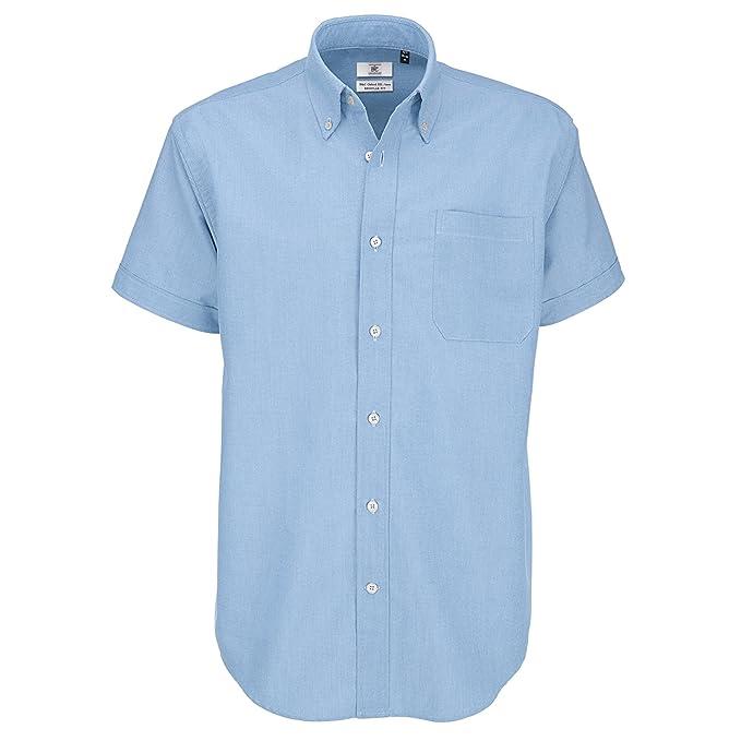 deb8db9dc4477 B C - Camisa de manga corta Modelo Oxford (Tallas grandes) para Hombre  Caballero -