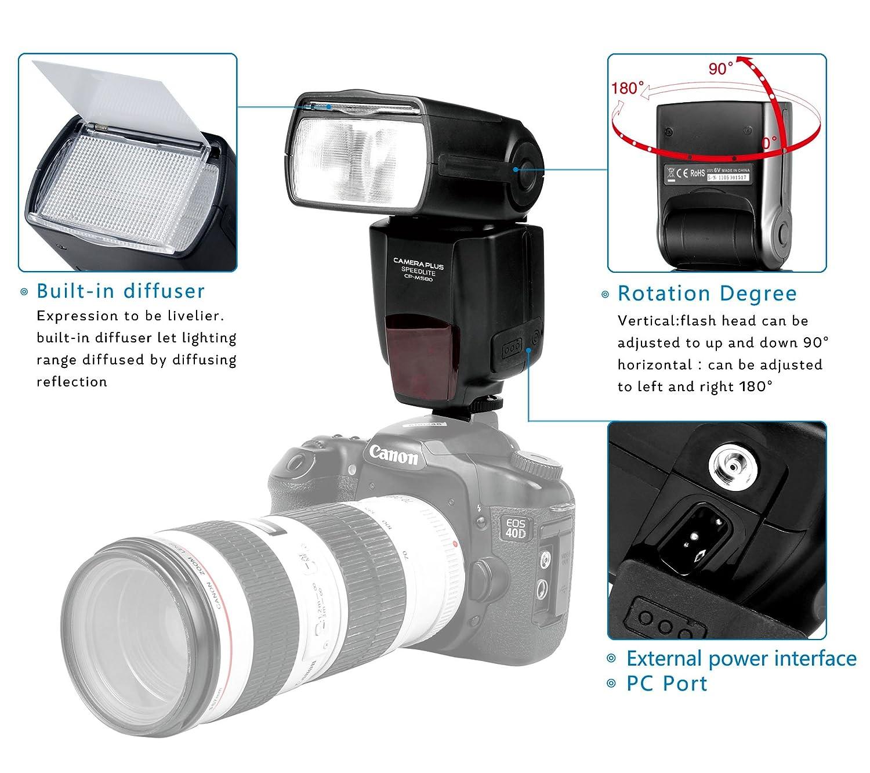 Cameraplus Cpm580 21 Lcd Display Speedlite Flash M Cameraflasheffectpagecircuitdiagram Multi S1 S2 With The Standard Hot Shoe For Canon Nikon Sony Panasonic Olympus
