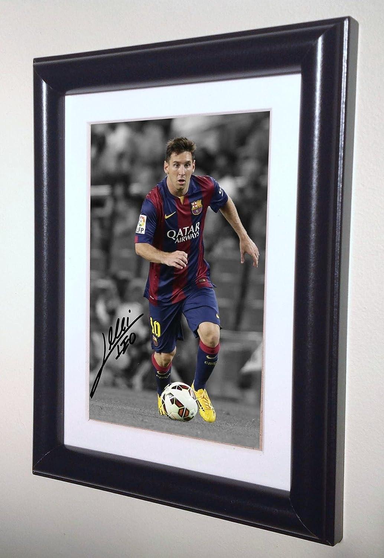 Unterzeichnet Lionel Messi Barcelona Foto Foto Bilderrahmen ...
