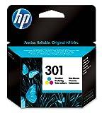 HP 301 Farbe Original Druckerpatrone für HP Deskjet, HP ENVY, HP Photosmart