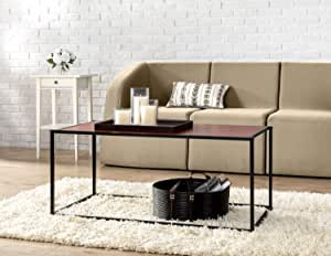Zinus Troy Modern Studio Collection Classic Rectangular Coffee Table, Brown