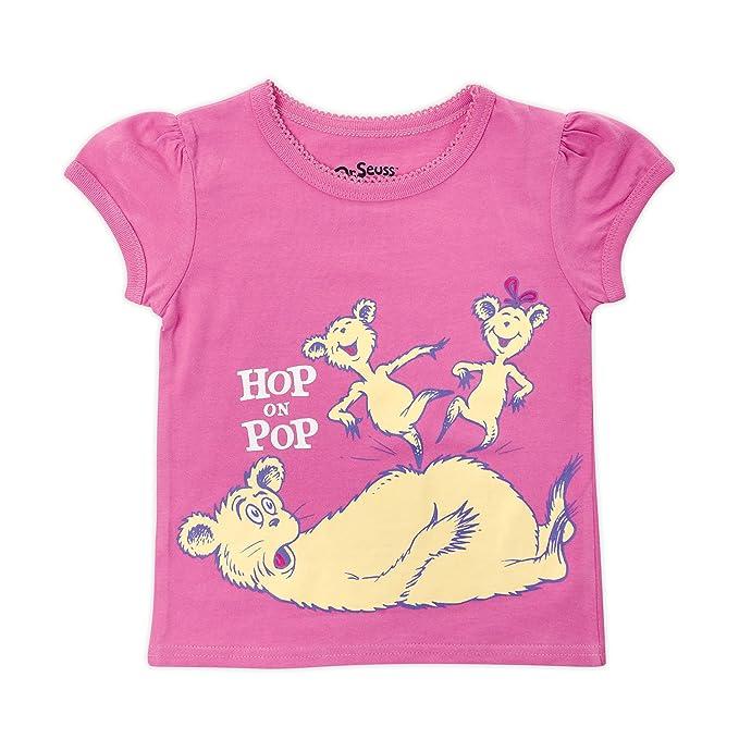 99f42c0c0043 Amazon.com  Bumkins Little Girls  Dr. Seuss Short Sleeve Graphic ...