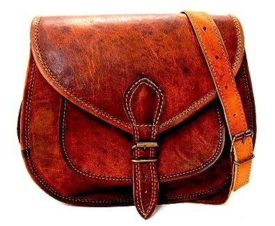 Firu-Handmade Women Vintage Style Genuine Brown Leather Crossbody Shoulder  Bag Handmade Purse  Handbags  Amazon.com 709d748121c02