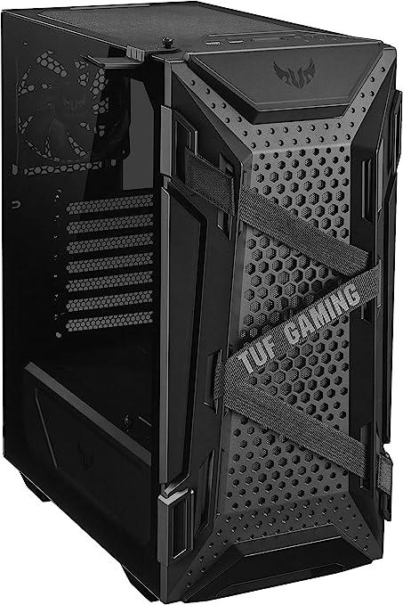 ASUS TUF Gaming GT301 - Caja ATX para PC (Torre de Mid, Pared Lateral de Cristal, Ventilador Aura RGB de 120 mm, Aura Sync, Soporte para Auriculares): Amazon.es: Informática