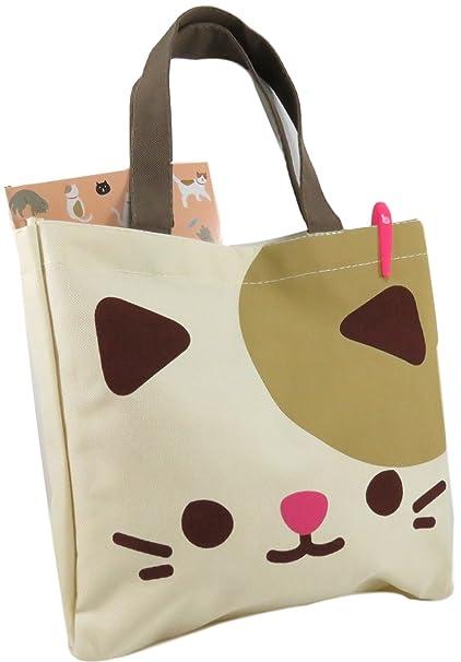 0de8651d03ac7 Daiso Cute Kitty Cat Tote Bag Purse 10.75