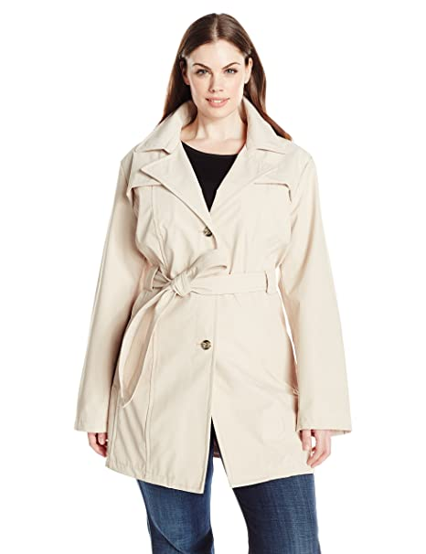 big discount of 2019 great deals 2017 fashionablestyle Larry Levine Women's Plus-Size Single Breasted Trench Coat