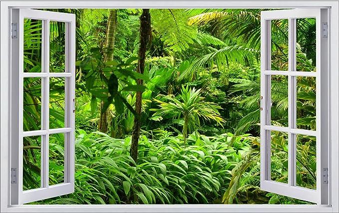Dschungel Wald Urwald Pflanzen Wandtattoo Wandsticker Wandaufkleber F0310