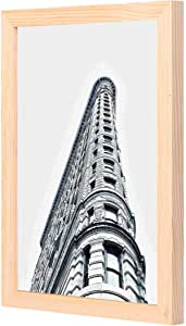 LOWHA architecture building city black and white Wall Art with Pan Wood framed Ready to hang for home, bed room, office living room Home decor hand made wooden color 23 x 33cm By LOWHA