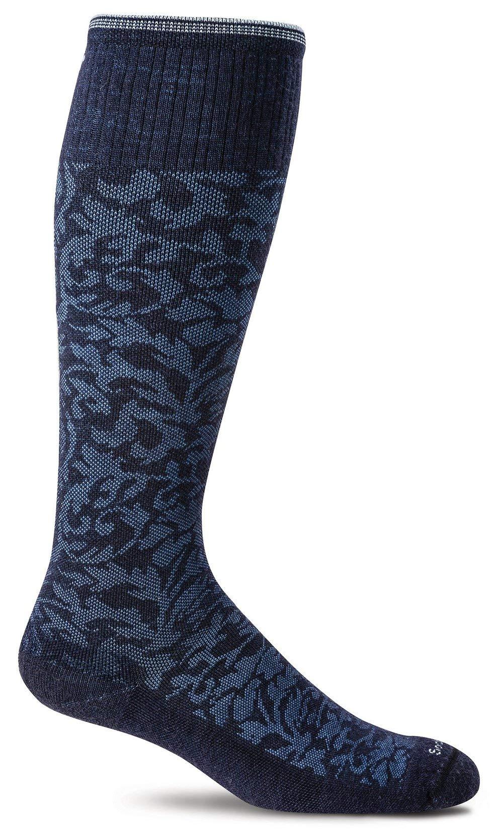 Sockwell Women's Damask Socks, Navy, Small/Medium